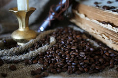 Kaffeebohne-Seilbuch Lizenzfreies Stockbild