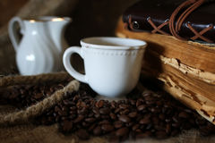 Kaffeebohne-Seilbuch Lizenzfreie Stockfotos