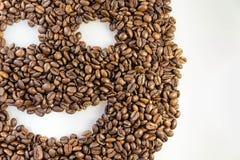 Kaffeebohne-smileygesicht Stockfoto