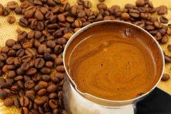 Kaffeebohne und Lizenzfreie Stockbilder