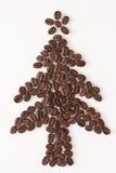 Kaffeebohne-Weihnachtsbaum stockbild