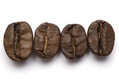 Kaffeebohne-Zeile Lizenzfreies Stockfoto
