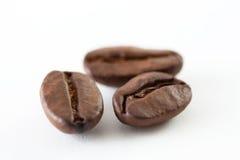 Kaffeebohneabschluß oben Stockfotografie