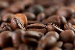 Kaffeebohneabschluß oben Lizenzfreies Stockfoto