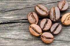 Kaffeebohneabschluß oben Lizenzfreie Stockbilder