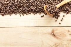 Kaffeebohneansicht von oben Lizenzfreies Stockbild