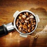 Kaffeebohnedetail und -beschaffenheit stockfotografie