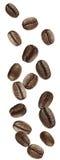 Kaffeebohnefallen Stockfotografie