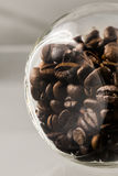 Kaffeebohneglas Stockfoto