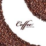 Kaffeebohnehintergrund Lizenzfreie Stockfotografie