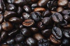 Kaffeebohnehintergrund Stockbild