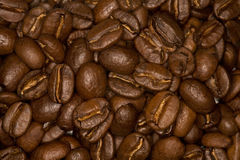 Kaffeebohnehintergrund Stockfoto