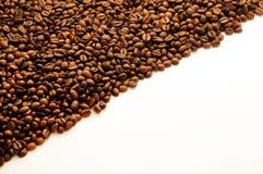 Kaffeebohnehintergrund mit Leerzeichen Lizenzfreie Stockbilder