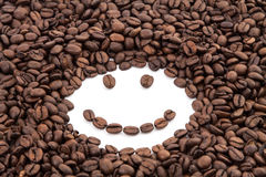 Kaffeebohnelächeln Lizenzfreie Stockbilder