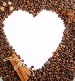 Kaffeebohnen als Rahmen Lizenzfreie Stockfotografie