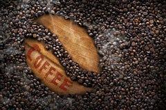 Kaffeebohnen, Beschaffenheit, Röstkaffeebohnen, große Bohne Stockfoto