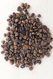 Kaffeebohnen Bio lizenzfreie stockfotos