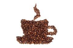 Kaffeebohnen in der Form des Cup Lizenzfreie Stockbilder