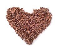 Kaffeebohnen in der Form des Inneren Stockfotos