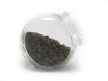 Kaffeebohnen in einem Glas Lizenzfreie Stockfotografie