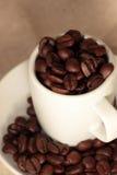 Kaffeebohnen in einer Schale Lizenzfreies Stockbild