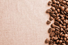 Kaffeebohnen-Fahne Lizenzfreies Stockfoto