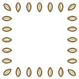 Kaffeebohnen Feld Moderne Geschäftsförderungskarte mit leerem Platz für Ihren süßen Entwurfstext, Wörter, Cafémenü Nette Handgezo vektor abbildung
