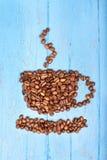 Kaffeebohnen in Form einer Schale Lizenzfreies Stockbild