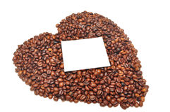 Kaffeebohnen in Form von Innerem Stockbild