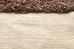 Kaffeebohnen gesehen von oben lizenzfreie stockfotos