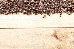 Kaffeebohnen gesehen von oben stockfoto