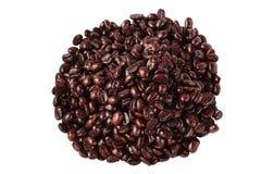 Kaffeebohnen getrennt Stockfotografie
