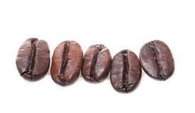 Kaffeebohnen getrennt. Stockbild