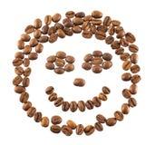 Kaffeebohnen lokalisiert Lizenzfreie Stockfotografie