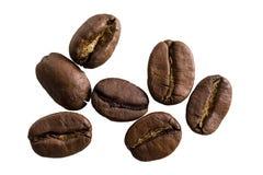 Kaffeebohnen lokalisierten Nahaufnahme Lizenzfreies Stockfoto