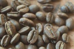 Kaffeebohnen Makro Lizenzfreie Stockfotos