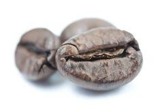Kaffeebohnen Makro Stockfoto