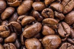 Kaffeebohnen Makro Lizenzfreies Stockbild