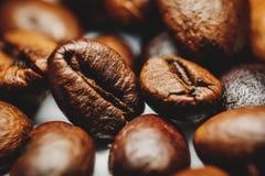 Kaffeebohnen Makro Lizenzfreie Stockfotografie