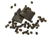 Kaffeebohnen mit Schokolade Lizenzfreies Stockbild