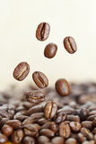 Kaffeebohnen schließen oben Stockfotos