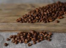 Kaffeebohnen werden gebraten Lizenzfreies Stockbild