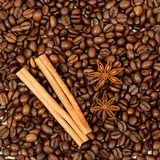 Kaffeebohnenahaufnahme Lizenzfreie Stockfotografie