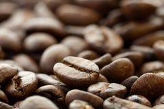 Kaffeebohnenahaufnahme Stockfotografie