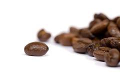 Kaffeebohnenahaufnahme stockbild