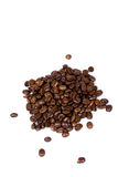 Kaffeebohnenahaufnahme lizenzfreie stockfotos