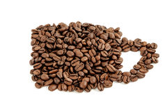 Kaffeebohneschale Lizenzfreies Stockfoto