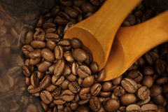 Kaffeebohnetasche Stockfotografie