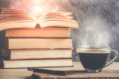 Kaffeebuch Stockfotografie