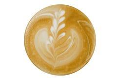 Kaffeecappuccino, Draufsicht Lizenzfreie Stockbilder